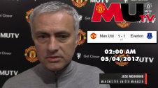 Jose Mourinho Trả Lời Phỏng Vấn Sau Trận Manchester United với Everton