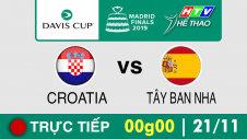 Trực tiếp :  Davis Cup 2019 -  CROATIA vs TÂY BAN NHA