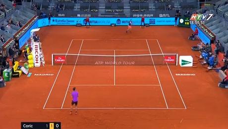 Xem Video Clip Điểm Tin Thể Thao Tứ Kết Giải Madrid Open HD Online.
