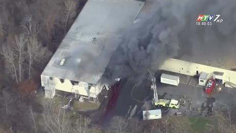 Cháy Lớn Tại Nhà Máy Sản Xuất Mỹ Phẩm