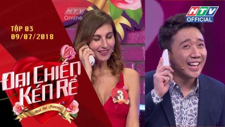 Xem Show GAMESHOW Đại Chiến Kén Rể Tập 03 : Trấn Thành làm mai cho cô gái lai Nga - Pháp HD Online.