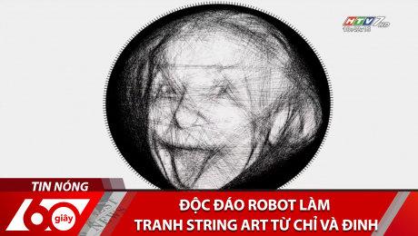 Độc Đáo Robot Làm Tranh String Art Từ Chỉ Và Đinh