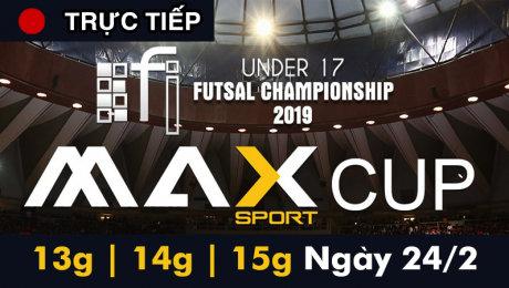 Trực tiếp: Giải bóng đá Futsal FI-U17 2019