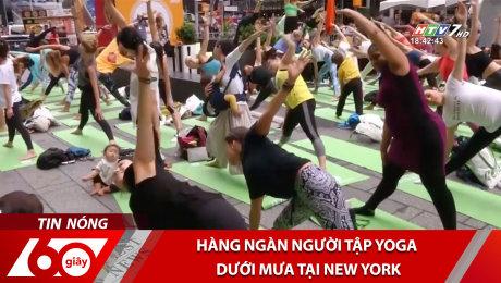 Hàng Ngàn Người Tập Yoga Dưới Mưa Tại New York