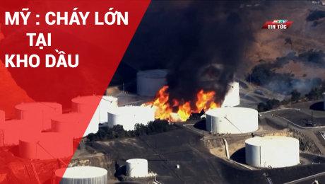 Mỹ: Cháy Lớn Tại Kho Dầu
