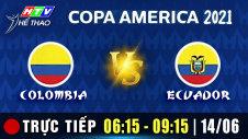 Trực tiếp :  COMLOMBIA vs ECUADOR