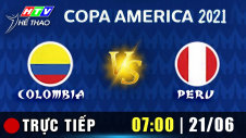Trực tiếp :  COLOMBIA vs PERU