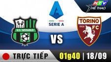 Trực Tiếp : Giải Serie A - Sassuolo vs Torino