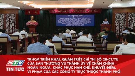 TP.HCM Triển Khai, Quán Triệt Chỉ Thị Số 28-Ct/Tu Của Ban Thường Vụ Thành Ủy