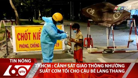 TP.HCM : Cảnh Sát Giao Thông Nhường Suất Cơm Tối Cho Cậu Bé Lang Thang
