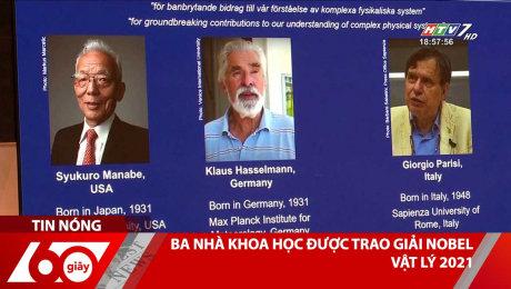 Ba Nhà Khoa Học Được Trao Giải Nobel Vật Lý 2021